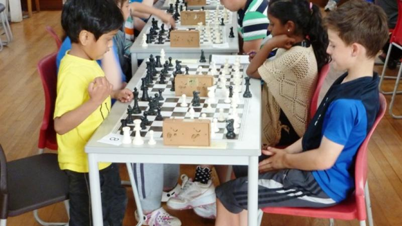 Youngest player, Shlok Verma, in action at Saffron Walden